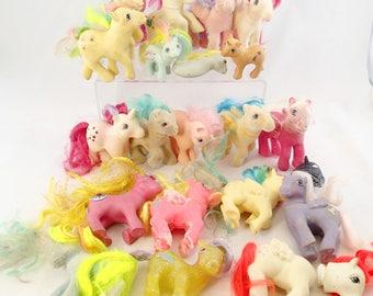 Huge Lot of Custom Bait My Little Ponies 21 Pony TLC G1 First Gen Generation So soft Baby Sky Dancer Pegasus Unicorn Princess Sea Truly