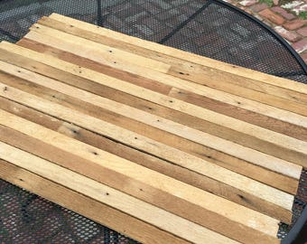 Lath wood boards reclaimed  salvage wood for craft projects
