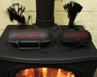 SMALL Cast Iron Baked Potato Cooker for Wood Burners Multi Fuel Stoves Log Fires
