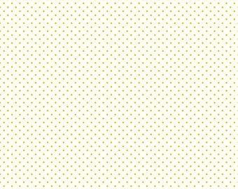 Lime Green Polka Dot Fabric - Riley Blake Swiss Dot Fabric - Lime Green - Le Creme Dot Fabric By The 1/2 Yard