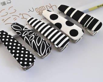 Hair Clip- BLACK and WHITE / Cute hair clip / Alligator hair clip / Women's Hair Accessories