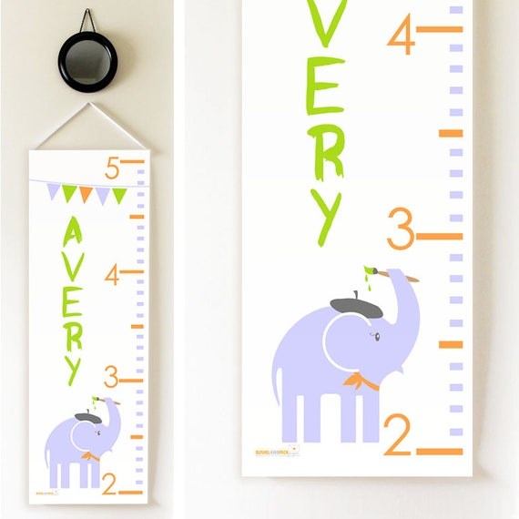 Elephant Artist Growth Chart By Bushel Peck Paper Catch My Party