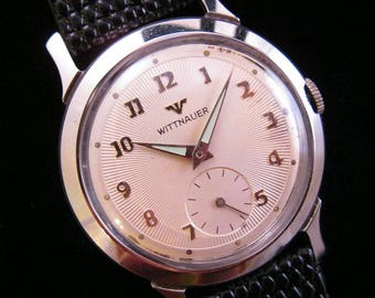 1950's Wittnauer - Starburst Dial - Cool Stainless Steel Case