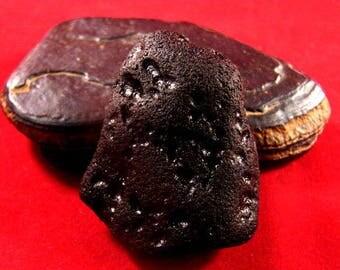 XL Shambala Singing Tibetan Tektite Pearl of Fire, Kundalini Meteorite Worry Stone ET Energy #50-60