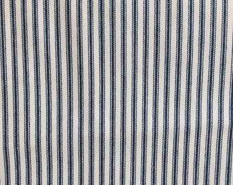 CLASSIC TICKING Navy blue.  and White multipurpose fabric