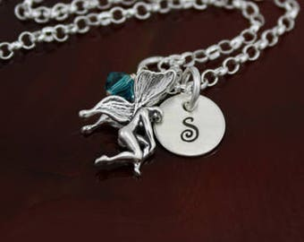 My Fairy Necklace | Sterling Silver Personalized Initial Jewelry