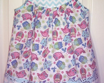 Little Girl's/Baby Girl's/Toddler Girl's Dress - Wise Owl Dress