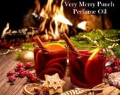 15% off Very Merry Punch Perfume Oil - Cherries, Apple Slices, Snow Crystals, cognac, Berries, Amber, Woods - Chrismas Perfume - Holiday Sce