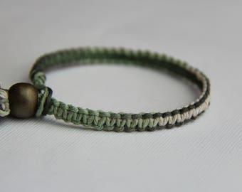 Shades of Green Hemp Bracelet