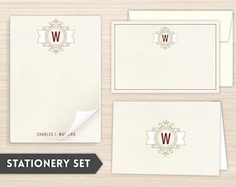Personalized Stationery Set | Custom Stationery | Elegant Stationery | Personal Stationery | Monogram Stationery | Modern Crest