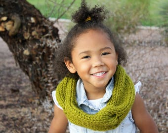 Little Girl Cable Cowl Knitted
