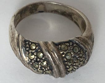 Vintage Silver Marcasite Ring DAC