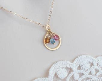 Infinity Necklace, Infinity Birthstone Necklace, Swarovski Birthstone Necklace, Personalized Gift, Mother Necklace, Grandmother Necklace