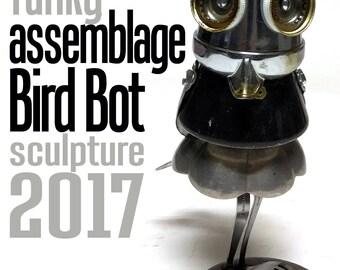 Jones Robo-Works Funky Assemblage Bird Bot Sculpture 2017