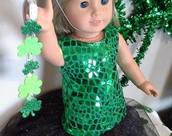 Princess St Patrick's Day Dress-American Girl Doll-18 Inch Doll