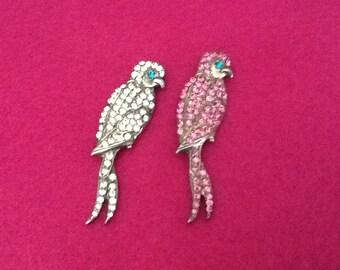 Swarovski crystal bird  brooch choice of one (1)
