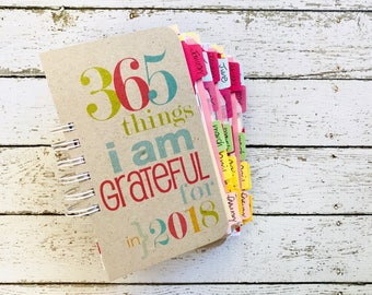 Gratitude Journal . 365 Things I Am Grateful For Notebook Diary . Everyday Blessings Daily Thankful Thankfulness Joy Happiness Joyful