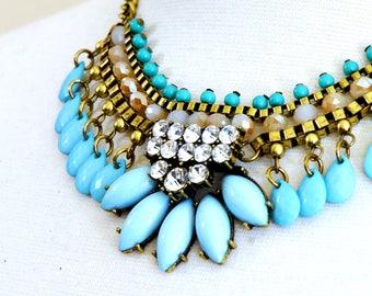 Wedding necklace Bib necklace - Olena