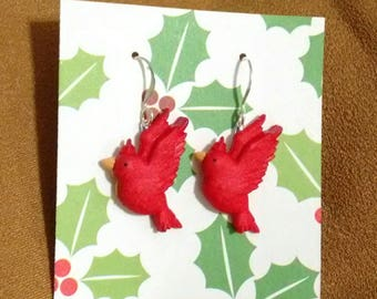 Cardinal earrings cardinal gifts cardinal jewelry redbirds Christmas gifts stocking stuffers gifts under 10 teacher gifts gifts for her