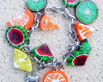 Bracelet fruit salad, polymer (fimo)