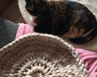 Chunky Crocheted cat or small dog beds COMING SOON!!