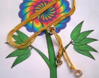 Bolo Bracelet Double Strand Gold Snake Chain