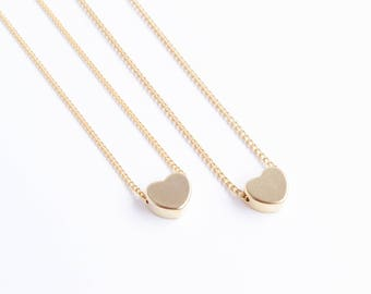 Dainty Heart Necklace | Dainty Silver Heart Necklace | Dainty Gold Necklace | Delicate Necklace | Gift For Mom | Valentines Day Gift