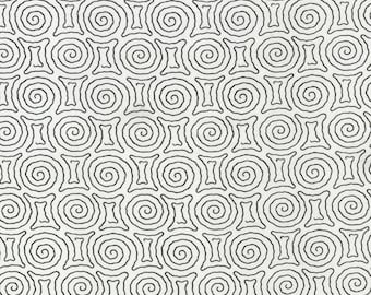 Vanessa Vargas Wilson Fabric Collection - Kinfolk - Spiral Maze White