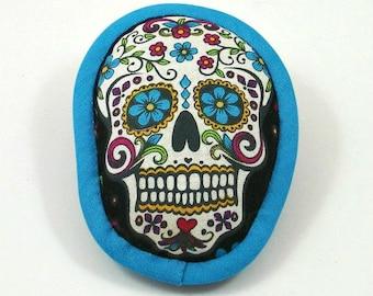 Catnip Skull Toy, Cat Toy Skull, Halloween Cat Toys, Day of the Dead, Dia de los Muertos, Calavera, Skull Pillow, Painted Skull, SUGAR SKULL