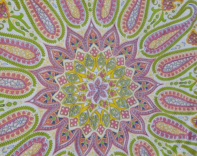 Pale Pastel Mandala Roundie with White Fringe Mandala Tapestry Beach Blanket Yoga Mat Meditation Mat Dorm Decor Hippie Tapestry