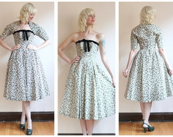 1950s Dress // Suzy Perette Silk Party Dress // vintage 50s dress