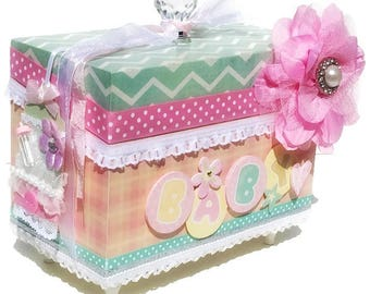Baby Girl Memory Box Gift for Baby Shower