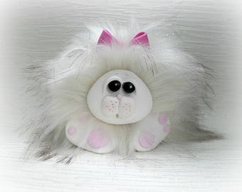Furry Monster Collectable 'Fizzwit' Polymer Clay *not a toy*