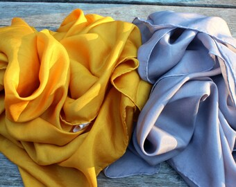 Silver & Gold Set Playsilks ~ Waldorf Inspired ~ Hand Dyed!