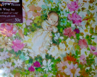 Vintage Gordon Fraser Baby Shower Gift Wrapping with Cards