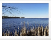 "Photo ""Incredi-blue"" lake view - Lake Mendota, Madison, WI, nature photography, home decor, living room, bedroom print, framed print canvas"