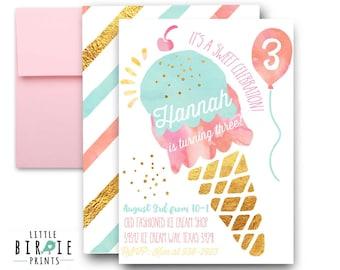 tropical birthday party invitation gold pineapple invitation