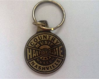 Souviner Keychain Country Music Hall of Fame Museum Nashville Tn Bronze