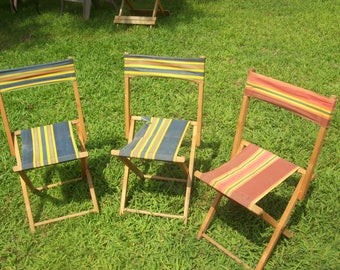 Wood Camping Chair Etsy
