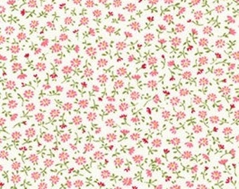 Robert Kaufman - Sevenberry Petite Garden PINK ditsy floral tiny calico Florals PINK daisy SB-6112D4-1  Japanese Cotton - choose your cut