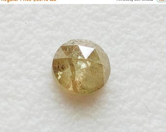 ON SALE 55% 3.80mm Light Yellow Rose Cut Diamond, Rare Natural Yellow Diamond Cabochon, Loose, Rough Diamond, Raw Diamond, Faceted Diamond