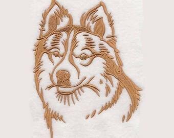 Icelandic Sheepdog Tea Towel | Personalized Kitchen Towel | Dog Lover Gift | Embroidered Tea Towel | Personalized Dish Towel | Dog Tea Towel