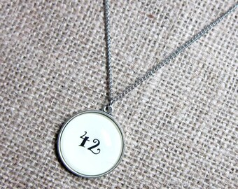 """The Hitchhiker's Guide to the Galaxy """"42"""" The Meaning Of Life Silver Necklace - Pendant on Stainless Steel Chain"""