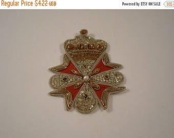 ON SALE Classic Gold and SIlver Bullion Blazer Crest--One Piece