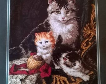 Dimensons - The Gold Collection - Captivating Felines Cross Stitch Kit