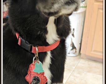Dog Waste holder, dog poop bag holder, dog bag dispenser, collar waste holder, hands free waste dispenser, dog bag holder, waste collar tag