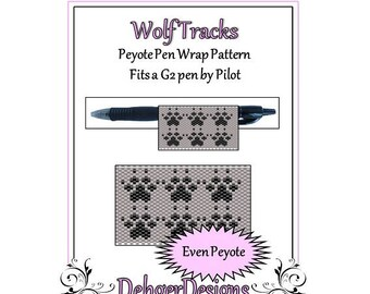 Bead Pattern Peyote(Pen Wrap/Cover)-Wolf Tracks