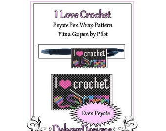 Bead Pattern Peyote(Pen Wrap/Cover)-I Love Crochet