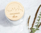 Your City Skyline / Maple Wood + Glass Jar