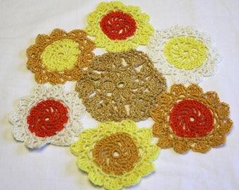 Handmade Sunflower Lace Doily